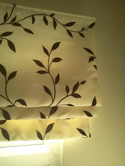 Lined Roman Blinds by Window Dressing, Oxford