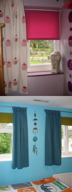 Sometimes a combination of both blinds and curtains can work well togethercurtains