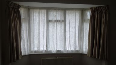 Voile Curtains In Bay Window