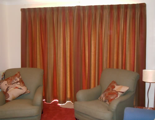 Curtains at French Windows, Oxfordshire